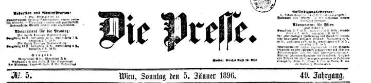 cover of die presse