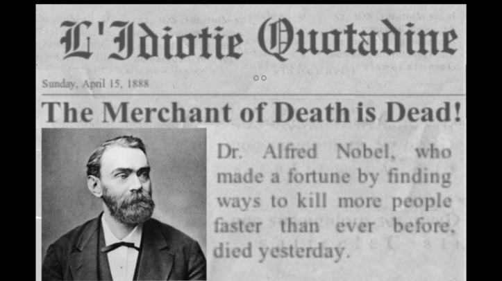 Nobel Merchant of Death Fake